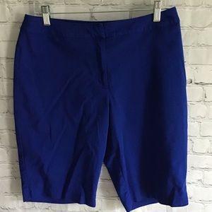 Chico's royal blue Bermuda shorts Chico's size 1